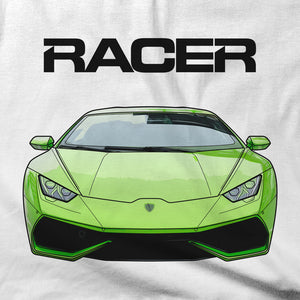 Lamborghini Huracan Illustrated - White Short Sleeve Hanes Beefy-T