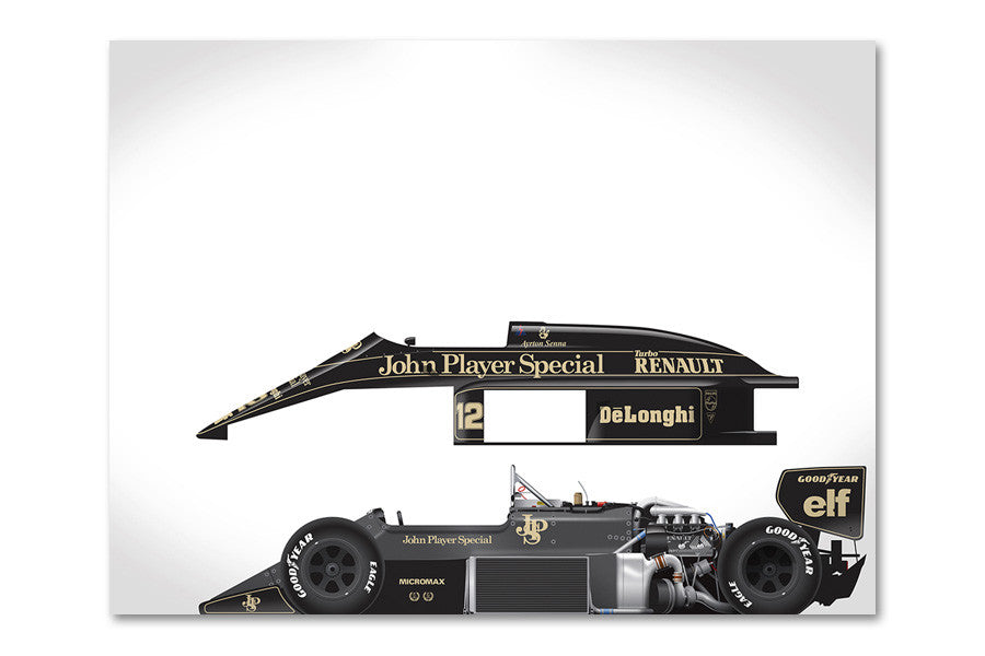 Ricardo Santos Lotus 98T Archival Canvas and Paper Limited Edition Print