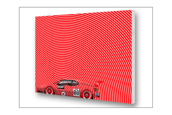 Ricardo Santos Hans Stuck BMW M1 Archival Canvas and Paper Limited Edition Print
