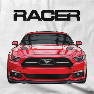 Mustang GT Illustrated - White Short Sleeve Hanes Beefy-T
