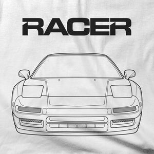 Acura NSX Line Art - White Short Sleeve Hanes Beefy-T