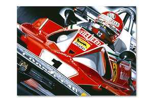 Niki Lauda 1976 Ferrari Archival Canvas Limited Edition Print