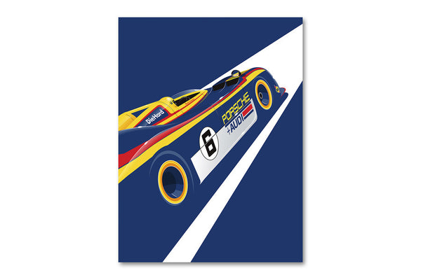 Ricardo Santos Porsche 917 Archival Canvas and Paper Limited Edition Print