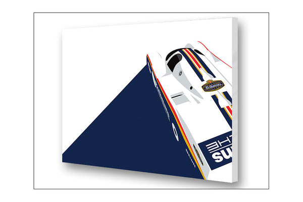 Ricardo Santos Porsche 962 Archival Canvas and Paper Limited Edition Print
