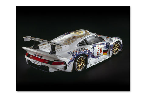 Porsche 911 GT-1 Rear Archival Canvas and Photograph Limited Edition Print