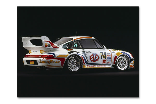 Porsche 911 GT-2 Rear Archival Canvas and Photograph Limited Edition Print
