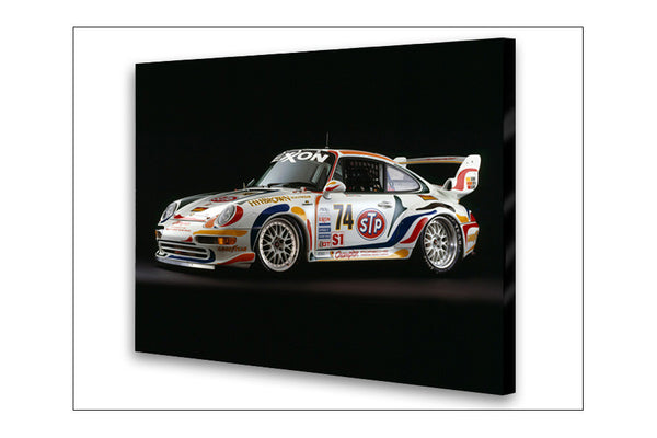 Porsche 911 GT-2 Side Archival Canvas and Photograph Limited Edition Print