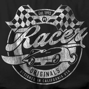 Vintage Look RACER Originals Short Sleeve Black Hanes Beefy-T