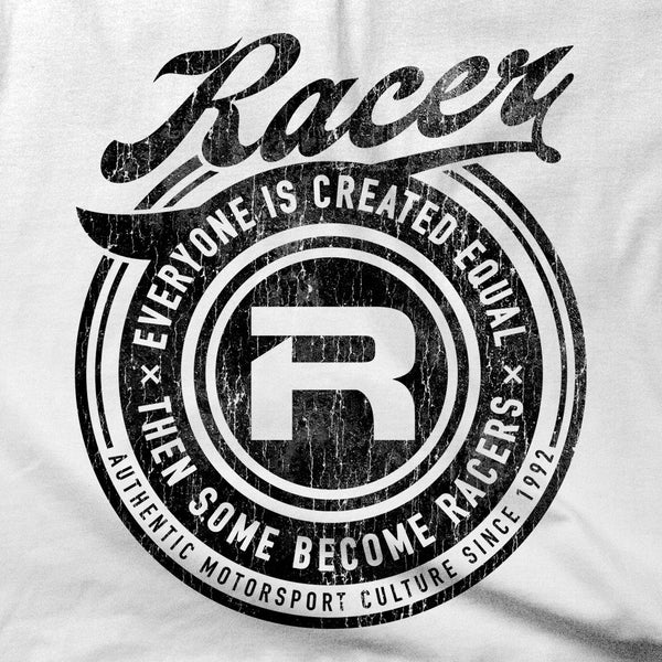 "Vintage Look ""Then Some Become Racers"" Short Sleeve Hanes Beefy-T"