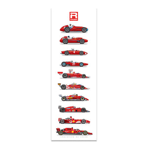 Ferrari Evolution of Speed Poster
