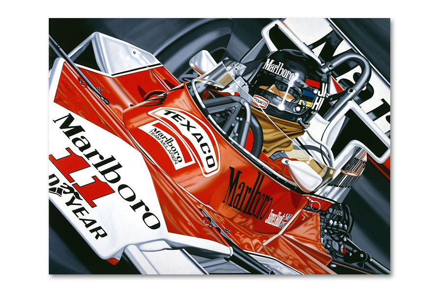 James Hunt Japanese G.P. 1976 Archival Canvas Limited Edition Print