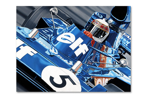 Jackie Stewart Monaco Grand Prix Archival Canvas Limited Edition Print