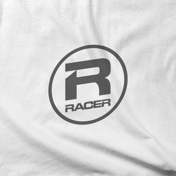RACER Gray Oval Logo - Short Sleeve Hanes Beefy T - 2 colors