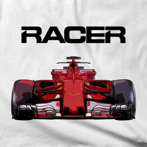 Grand Prix Car Color Line Art 2 - White Short Sleeve T-Shirt