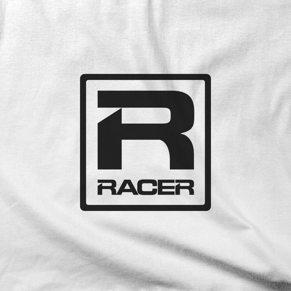 RACER Black Square Logo - Short Sleeve T-Shirt