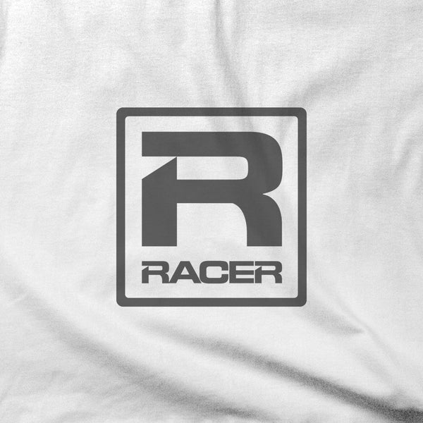 RACER Gray Square Logo - Short Sleeve Hanes Beefy T - 2 colors