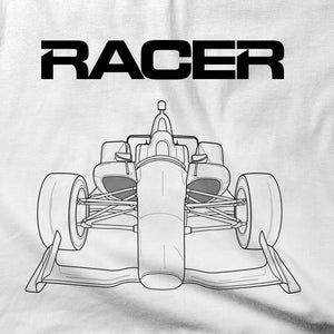 2018 Indy Car Illustrated Short Sleeve White Hanes Beefy-T