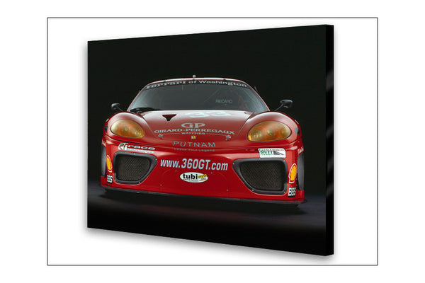 Ferrari 360 GTC Front Archival Canvas and Photograph Limited Edition Print