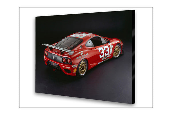Ferrari 360 GTC Rear Archival Canvas and Photograph Limited Edition Print