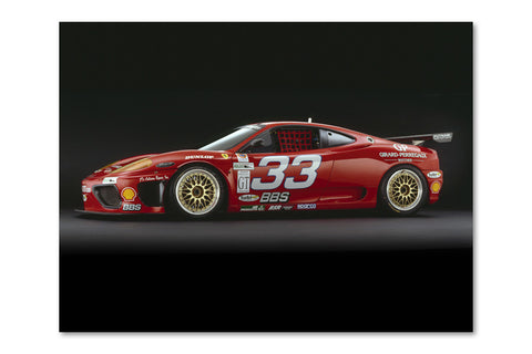 Ferrari 360 GTC Side Archival Canvas and Photograph Limited Edition Print