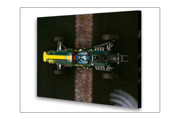 Lotus 34 Ford Top Archival Canvas and Photograph Limited Edition Print