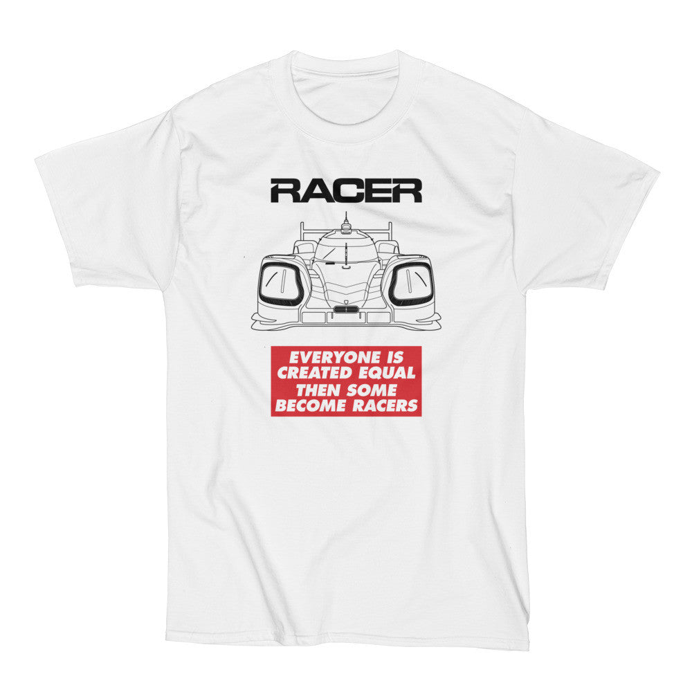 "RACER Prototype ""Some Become Racers"" Short Sleeve White Hanes Beefy-T"