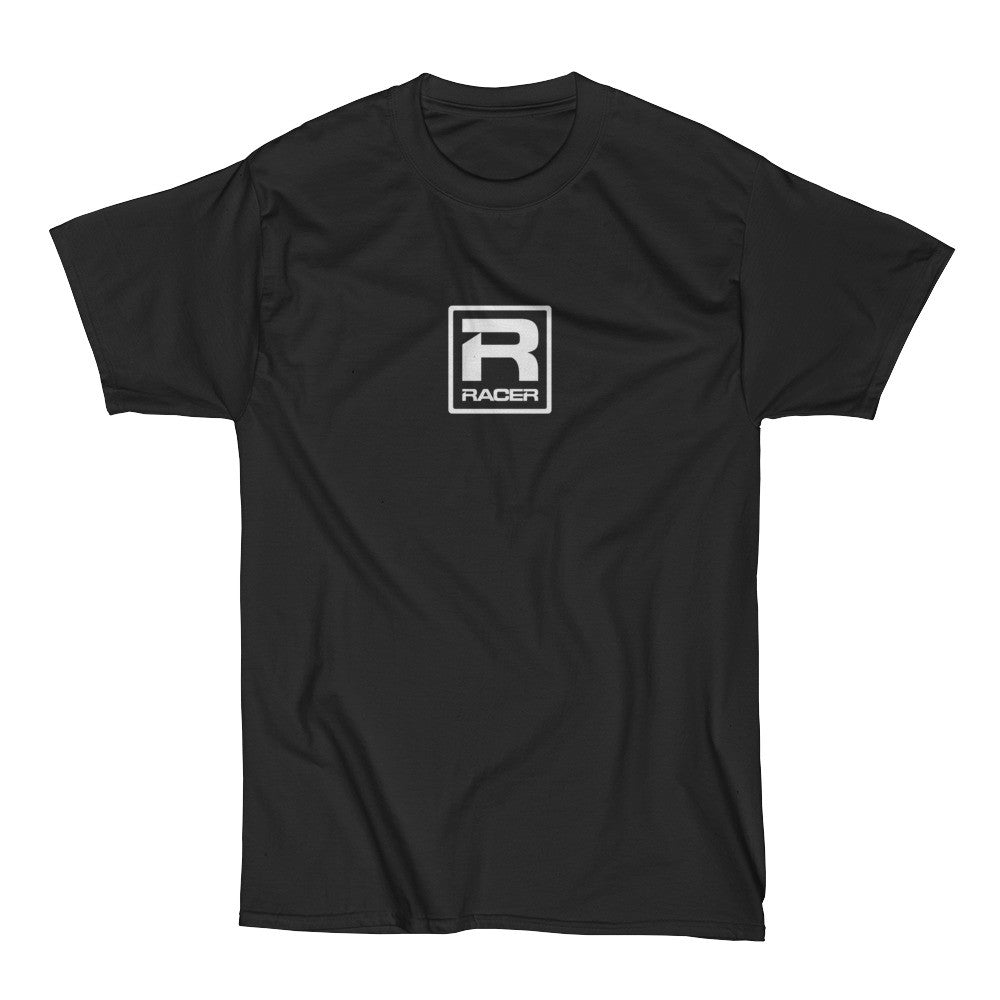 RACER White Square Logo - Short Sleeve T-Shirt