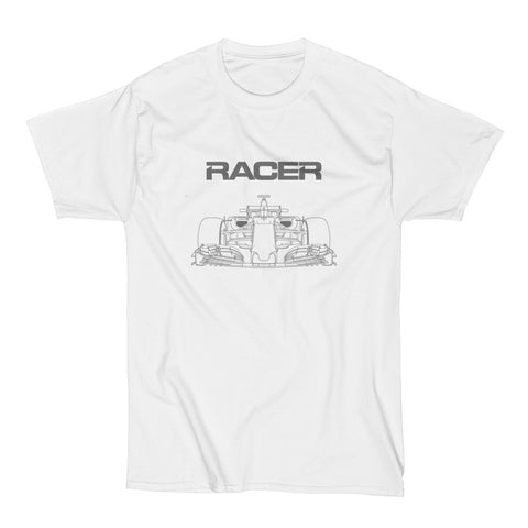 F1 Gray Line Art - Short Sleeve Hanes Beefy T - 2 colors