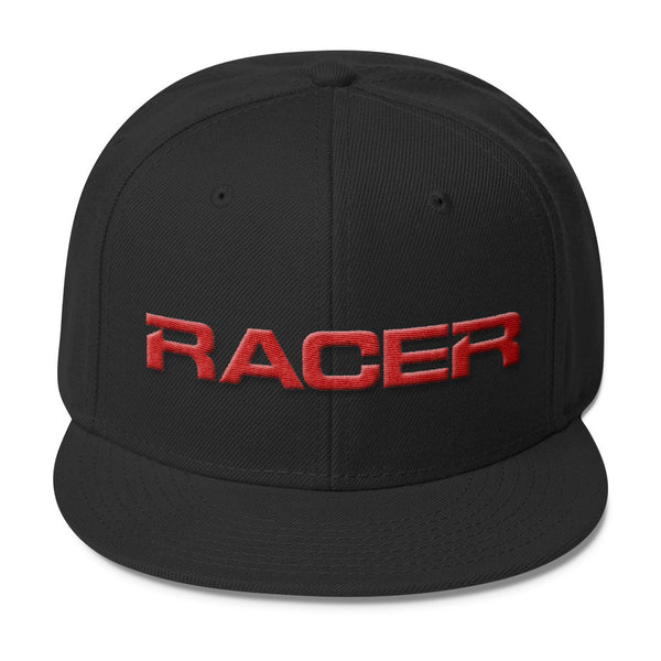 RACER Horizontal Red Logo Wool Blend Snapback - 4 colors