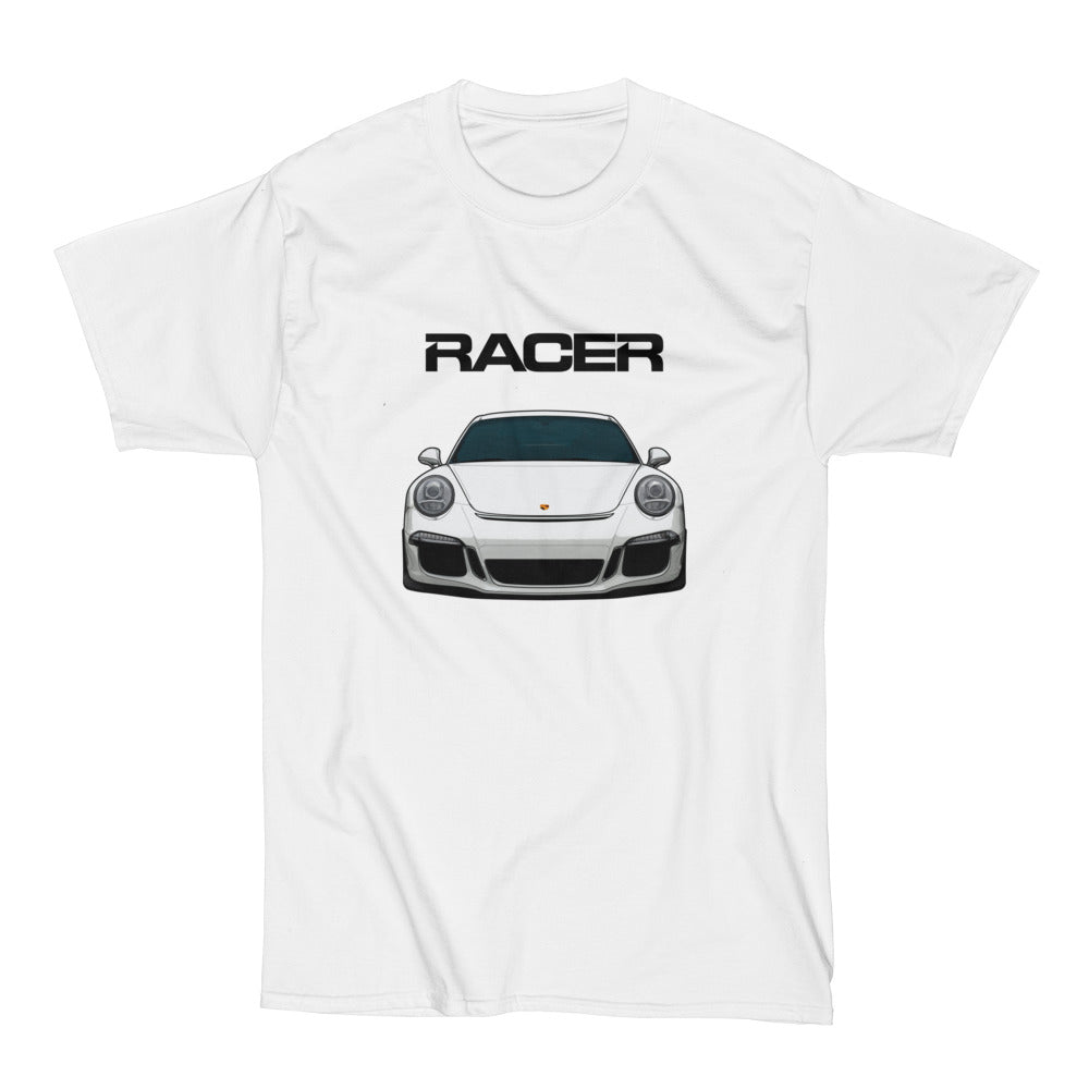 Porsche GT3 Illustrated - White Short Sleeve Hanes Beefy-T