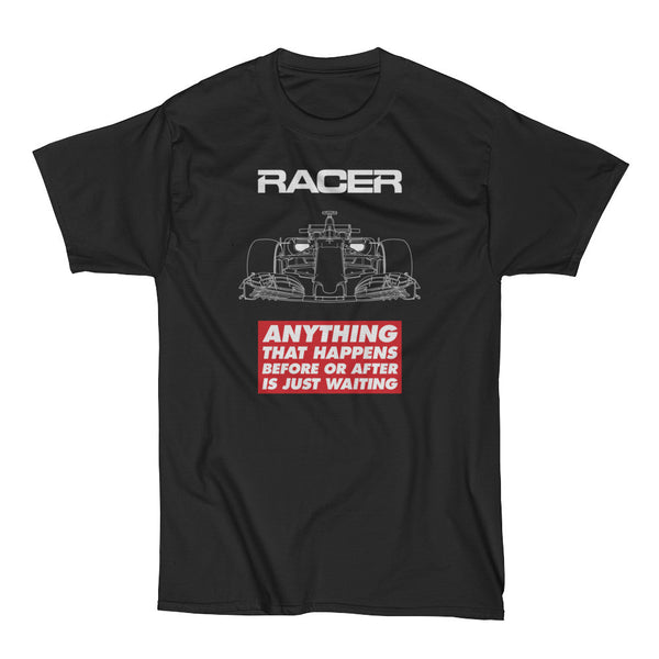 "Grand Prix Car ""Just Waiting"" Short Sleeve Black Hanes Beefy-T"