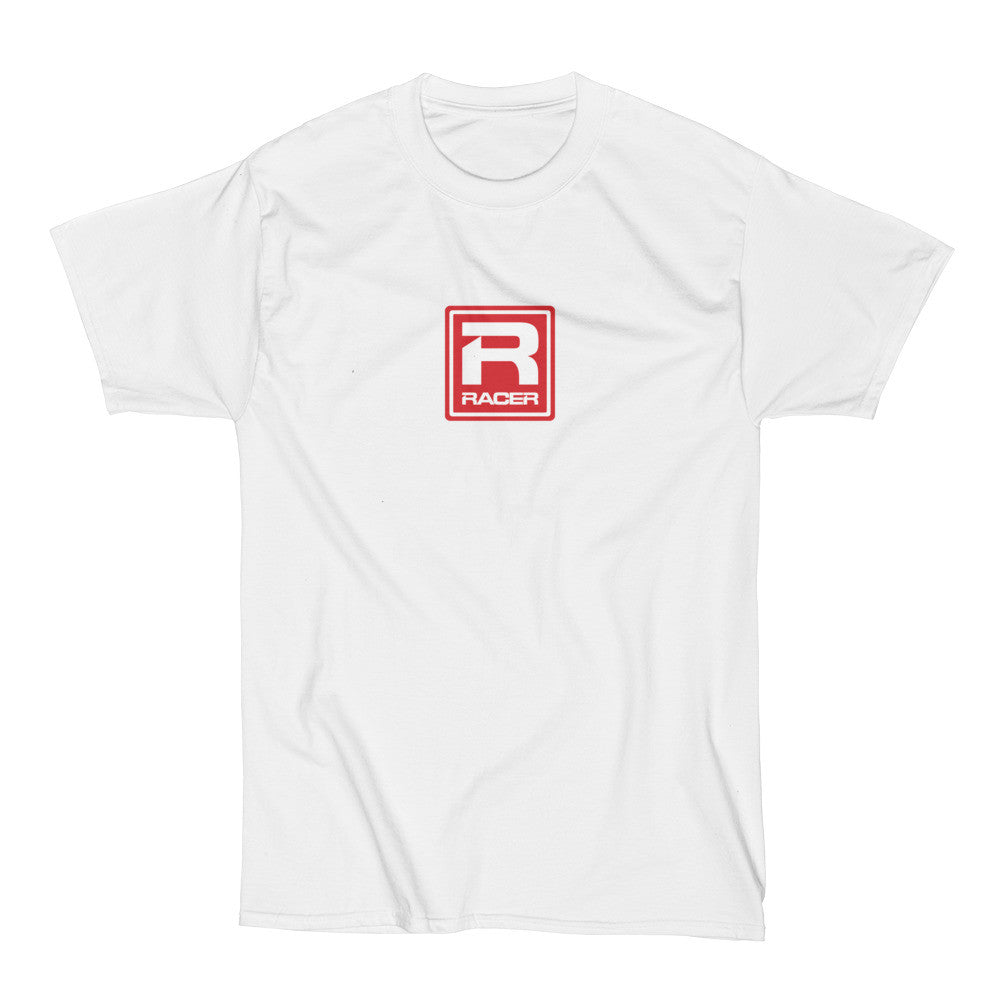 RACER Red Square Logo - Short Sleeve Hanes Beefy T - 2 colors