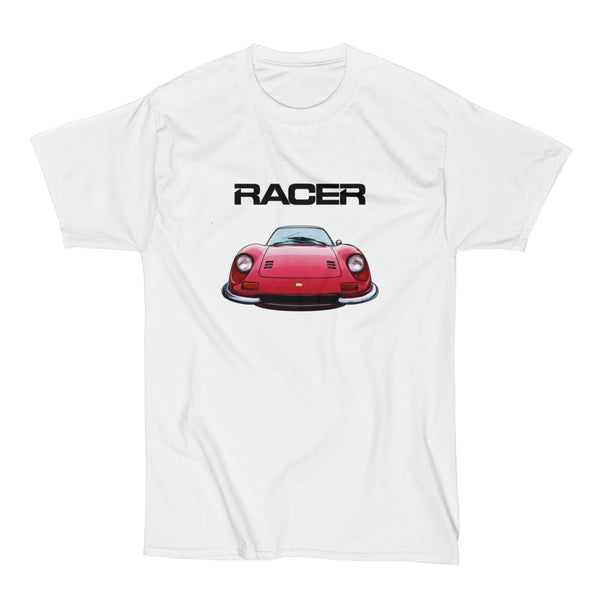 Ferrari Dino Illustrated - White Short Sleeve Hanes Beefy-T