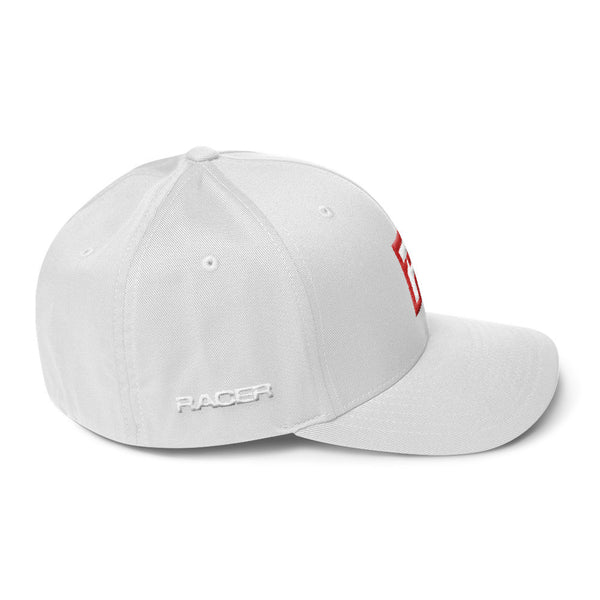 "RACER Square ""R"" Logo Structured Twill Cap - 4 colors"