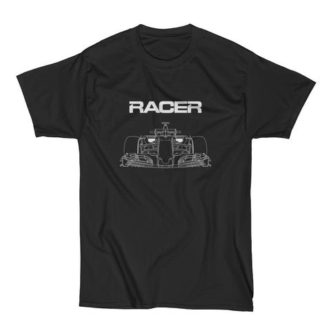 F1 Line Art - Black Short Sleeve Hanes Beefy T