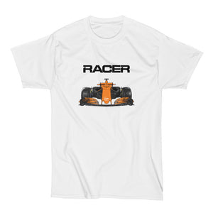 F1 Color Line Art - White Short Sleeve Hanes Beefy T