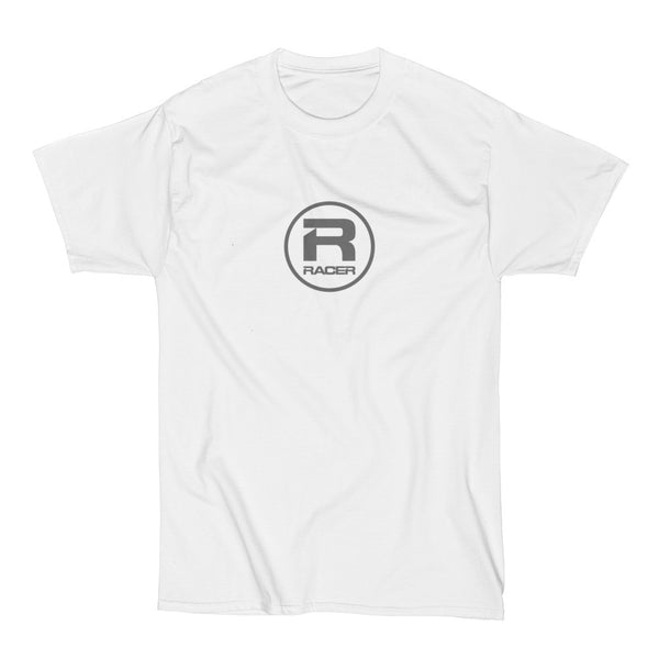 RACER Gray Round Logo - Short Sleeve Hanes Beefy T - 2 colors
