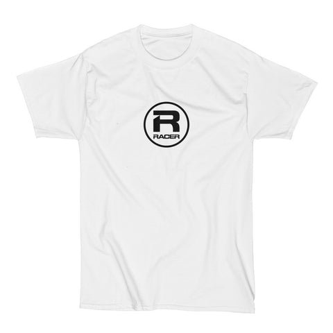 RACER Black Round Logo - Short Sleeve Hanes Beefy T
