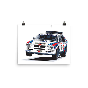 1985 Lancia Delta S4 Group B Rally Car Poster