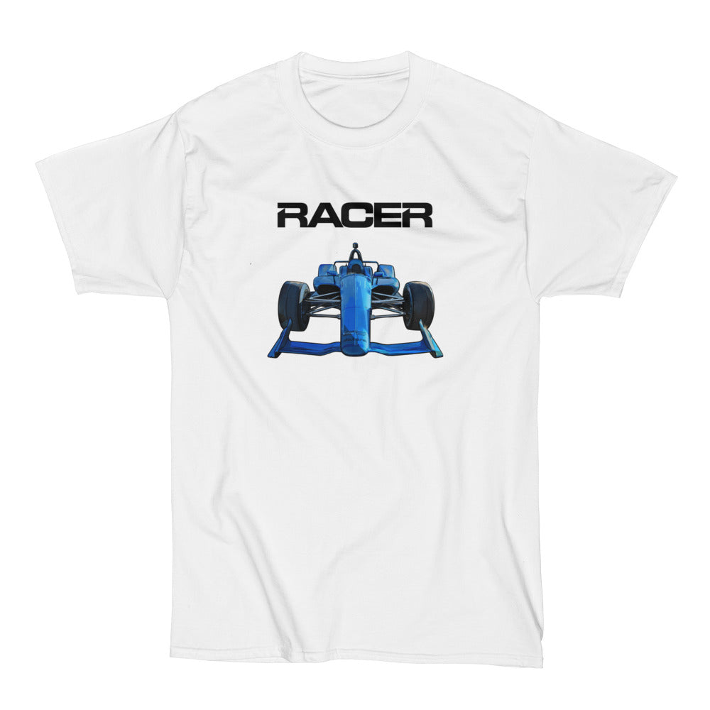 2018 Indy Car Illustrated White Short Sleeve Hanes Beefy-T