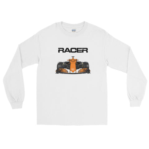 Grand Prix Car Color Line Art - Long Sleeve T-Shirt