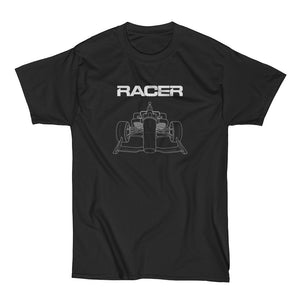 2018 Indy Car Illustrated Short Sleeve Black Hanes Beefy-T