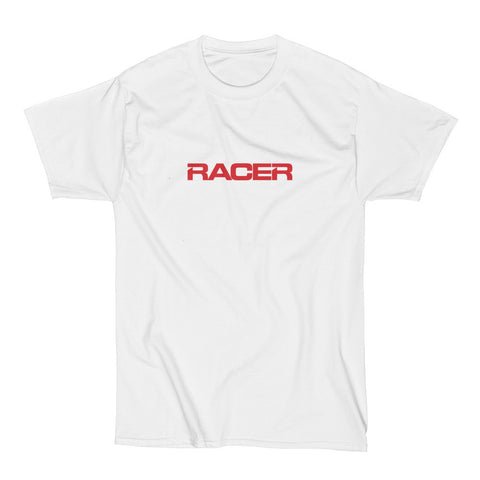 RACER Horizontal Red Logo - Short Sleeve Hanes Beefy T - 2 colors