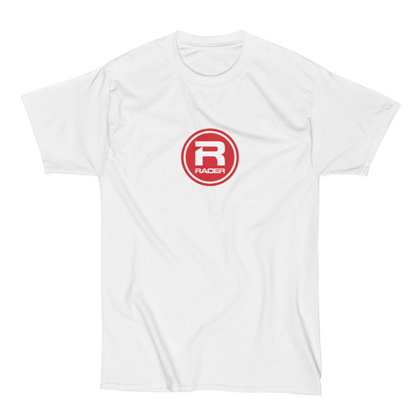 RACER Red Round Logo - Short Sleeve Hanes Beefy T - 2 colors