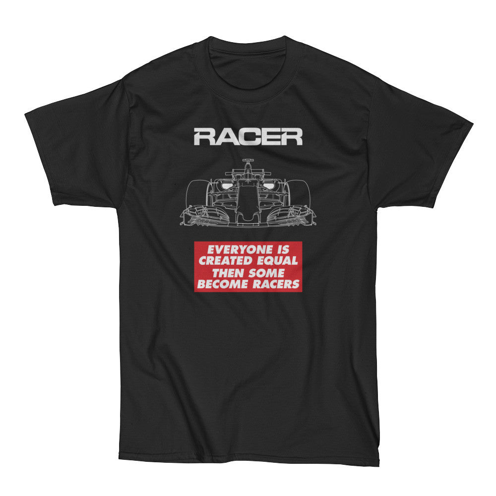 "Grand Prix Car ""Some Become Racers"" Short Sleeve Black Hanes Beefy-T"