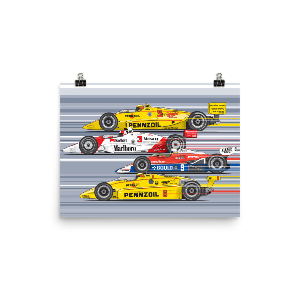 Rick Mears Poster