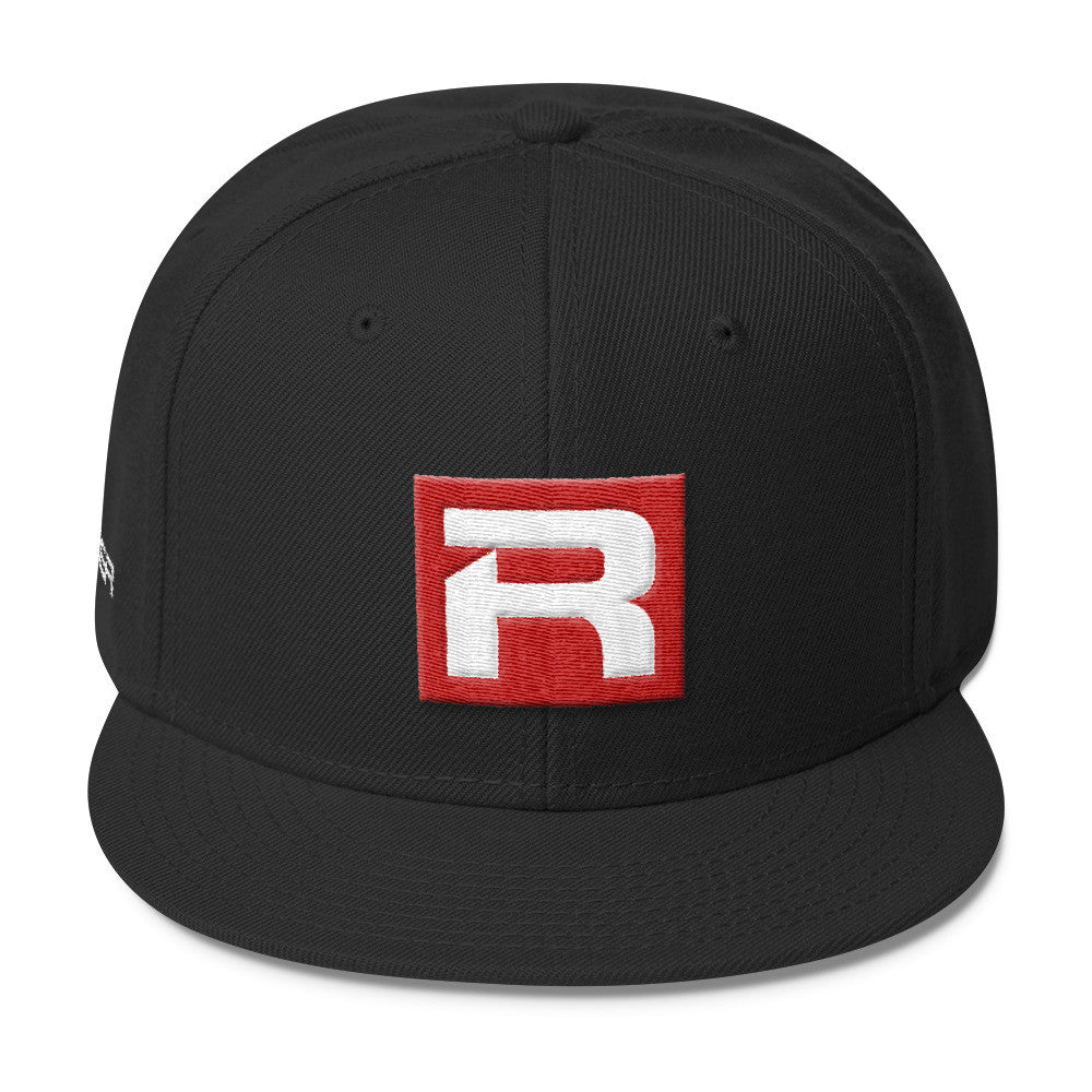 "RACER Square ""R"" Logo Wool Blend Snapback - 7 colors"