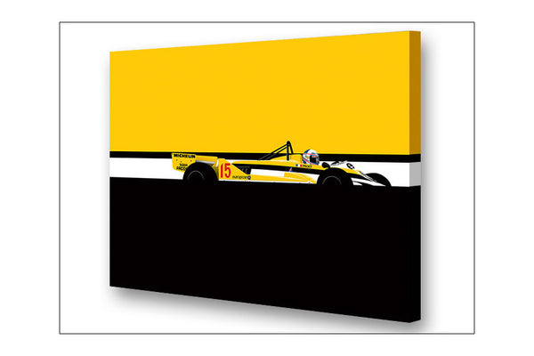 Ricardo Santos Alain Prost Renault Archival Canvas and Paper Limited Edition Print