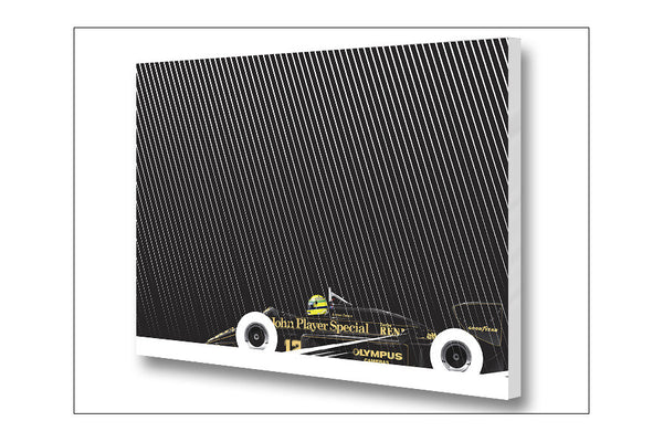 Ricardo Santos Senna Lotus 97T-Renault Archival Canvas and Paper Limited Edition Print