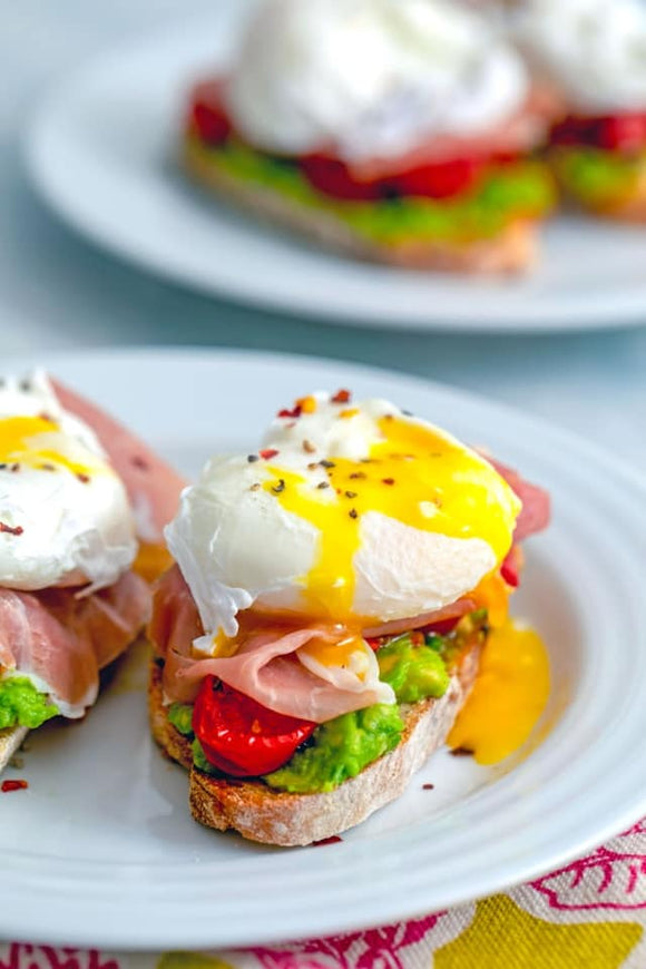 Poached Eggs and Avocado Toast